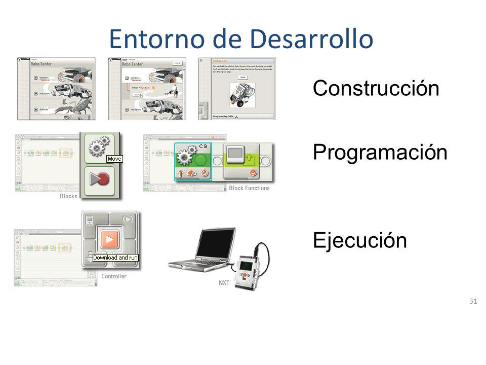 Programación Se corre el programa en el Robot y se ven los resultados obtenidos. No se cuenta con un emulador para probar los desarrollos lo que dific