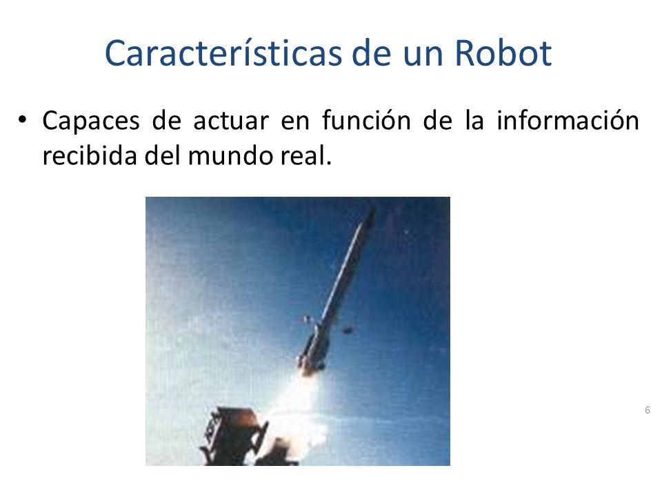 Características de un Robot Diseñados para sustituir al humano en algunas tareas. 5