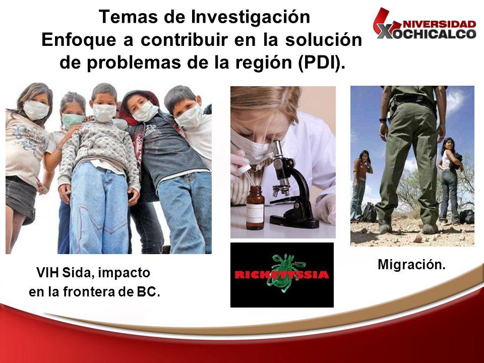 VIH Sida, impacto en la frontera de BC. Enfoque a contribuir en la solución de problemas de la región (PDI). Temas de Investigación Migración.