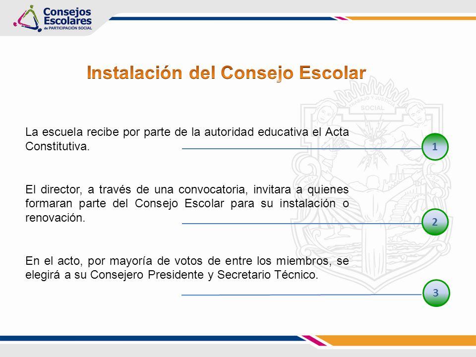 Representa al Consejo Escolar y preside las sesiones y asambleas Coordina los comités y sus estrategias de trabajo.