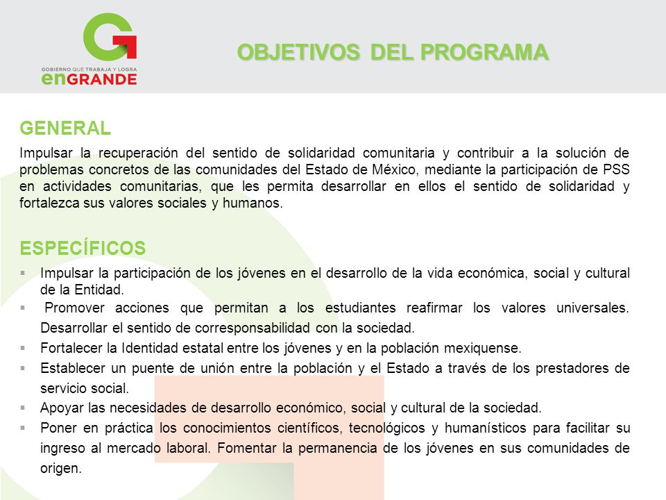 REQUISITOS DE PARTICIPACIÓN EN EL PROGRAMA Radicar en el Municipio donde se prestará el Servicio Social.