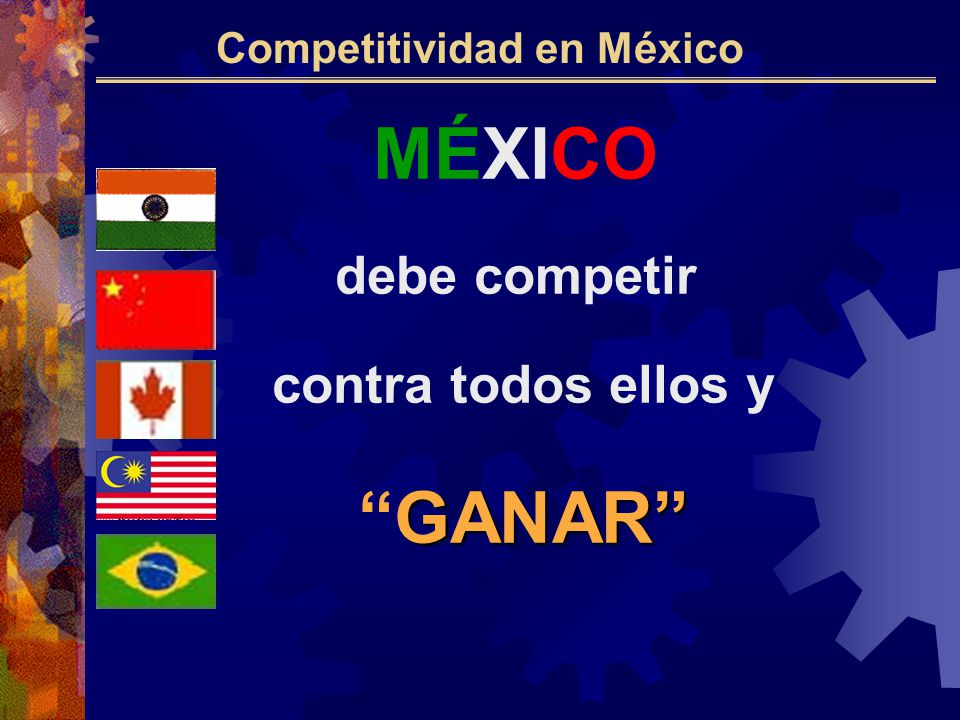 MÉXICO debe competir contra todos ellos y GANARGANAR Competitividad en México