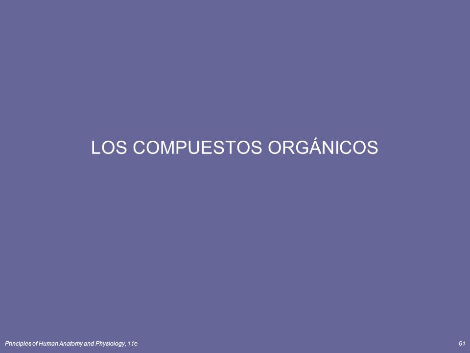 Principles of Human Anatomy and Physiology, 11e61 LOS COMPUESTOS ORGÁNICOS