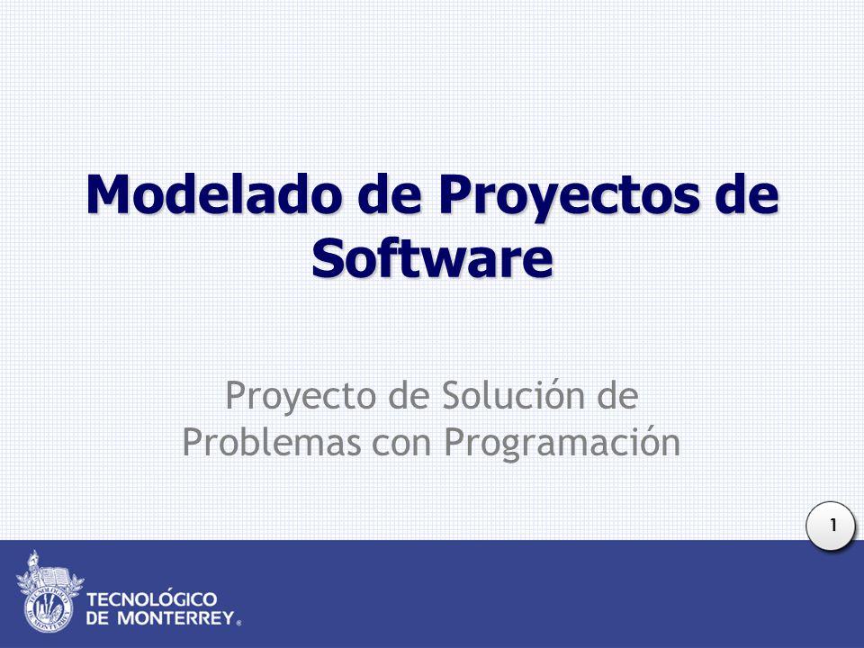 1 Modelado de Proyectos de Software Proyecto de Solución de Problemas con Programación