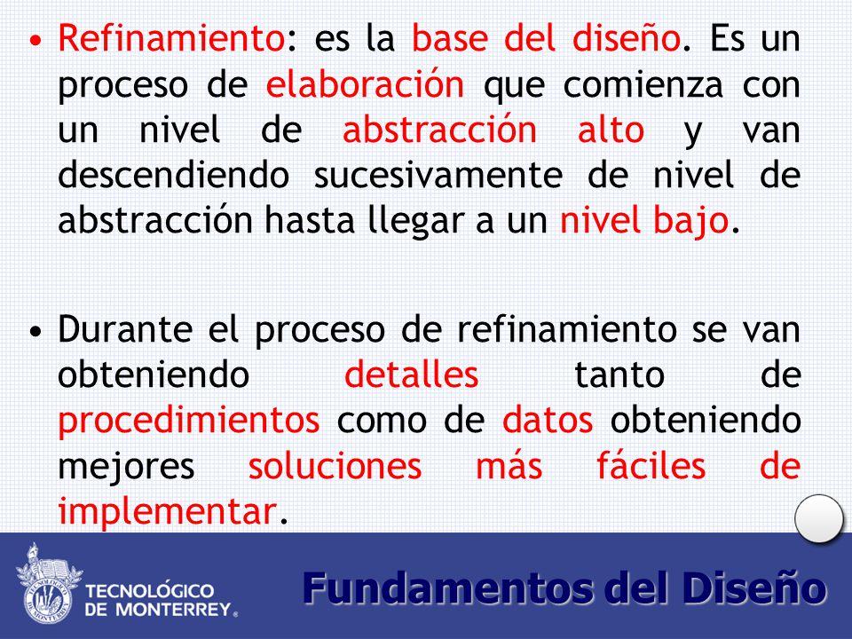 Fundamentos del Diseño Refinamiento: es la base del diseño.
