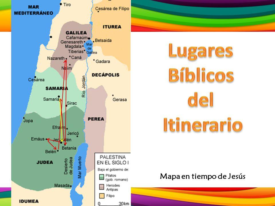 Mapa en tiempo de Jesús