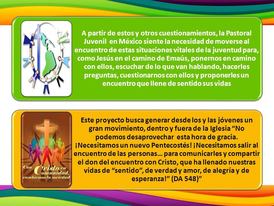 A partir de estos y otros cuestionamientos, la Pastoral Juvenil en México siente la necesidad de moverse al encuentro de estas situaciones vitales de