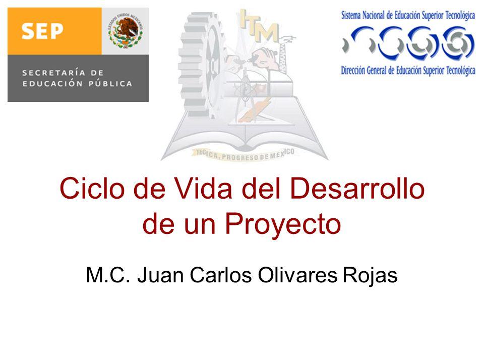 Ciclo de Vida del Desarrollo de un Proyecto M.C. Juan Carlos Olivares Rojas