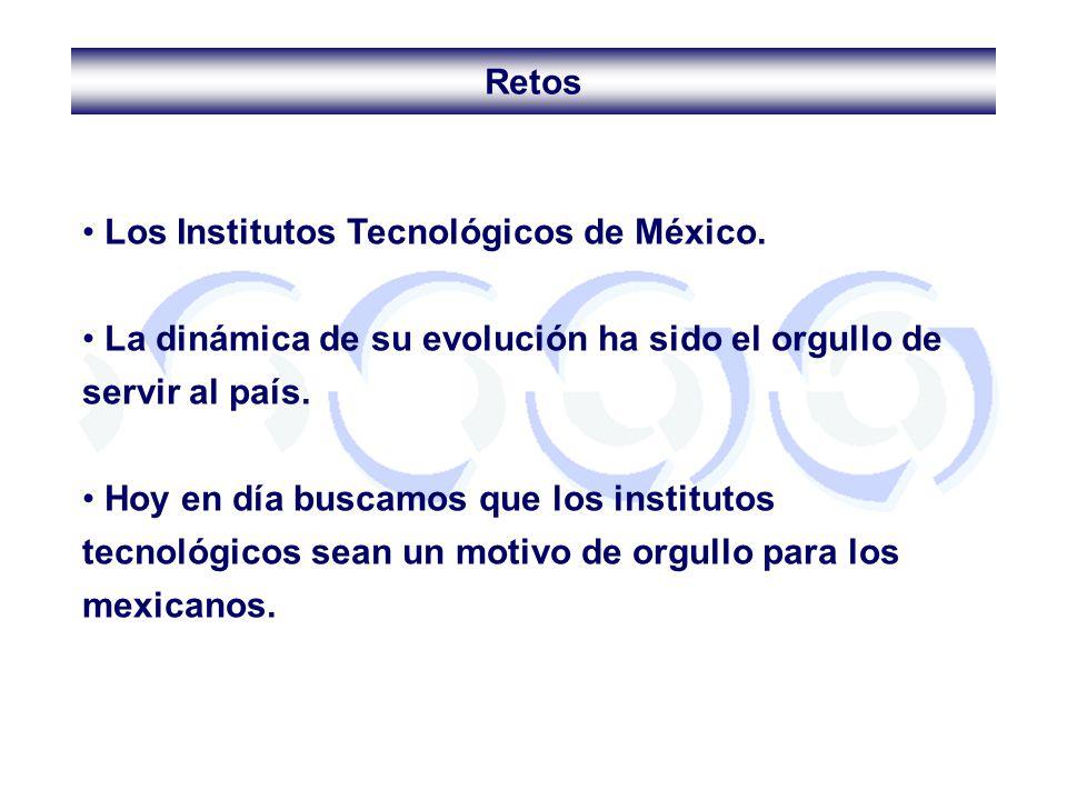 Los Institutos Tecnológicos de México. La dinámica de su evolución ha sido el orgullo de servir al país. Hoy en día buscamos que los institutos tecnol