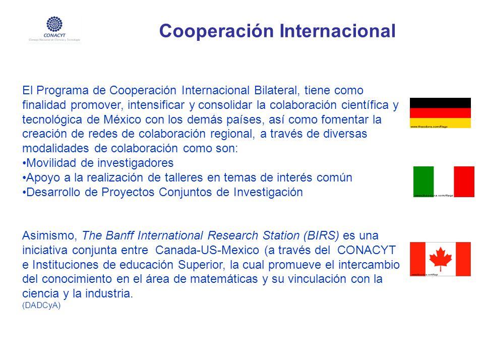 Cooperación Internacional El Programa de Cooperación Internacional Bilateral, tiene como finalidad promover, intensificar y consolidar la colaboración