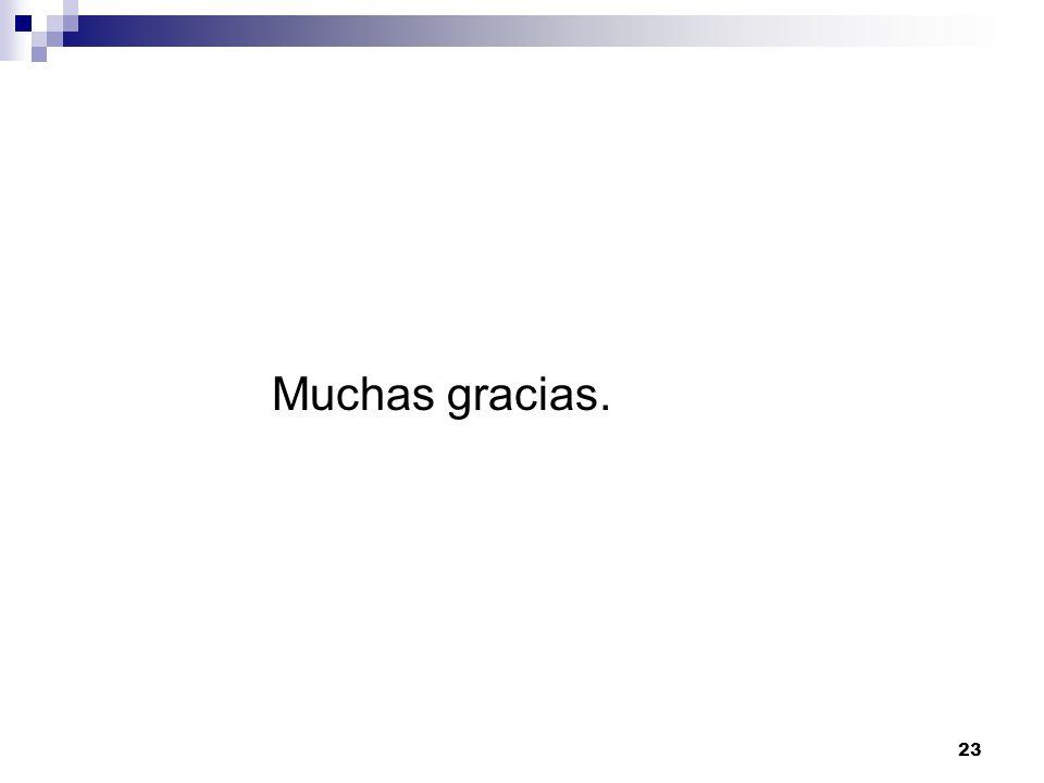 23 Muchas gracias.
