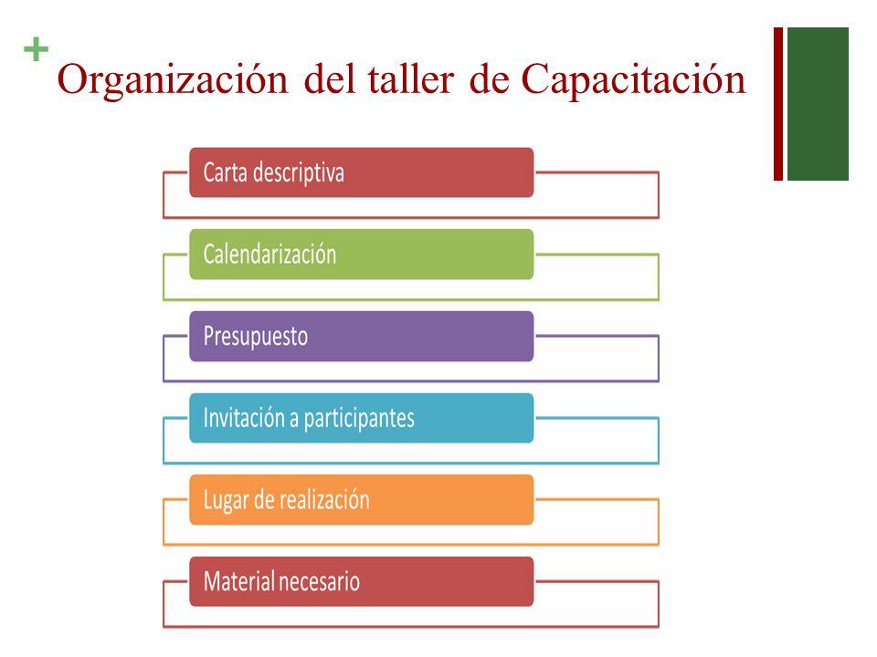 + Organización del taller de Capacitación