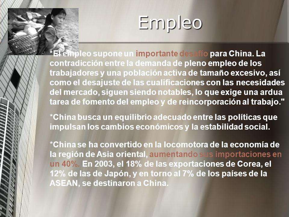 *El empleo supone un importante desafío para China.