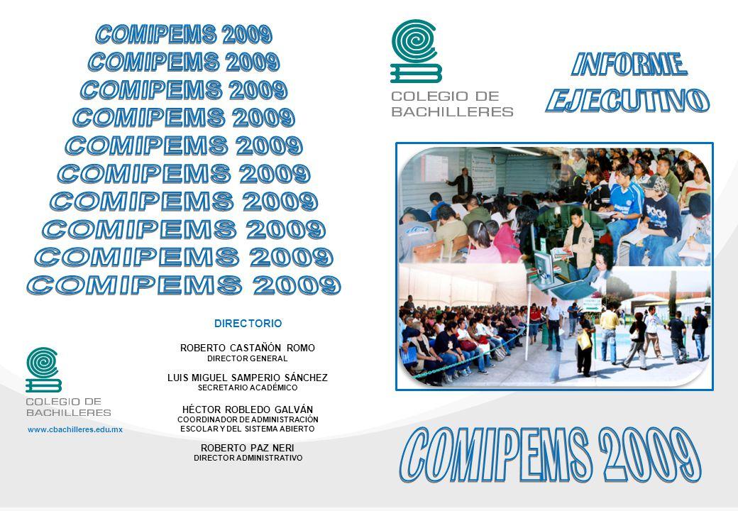 COMIPEMS 2009 I NTRODUCCIÓN: El Colegio de Bachilleres CB, es un organismo público descentralizado del Estado Mexicano creado por Decreto Presidencial el 26 de septiembre de 1973.