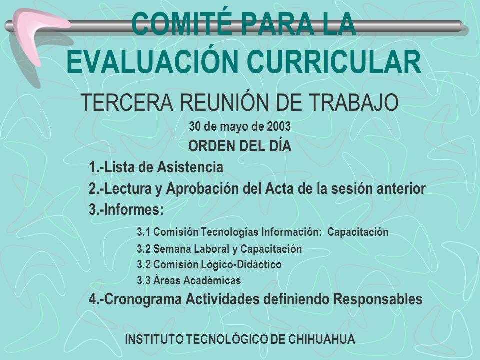 Comité para la Evaluación Curricular ESTRUCTURA ORGÁNICA PRESIDENTE Ing.