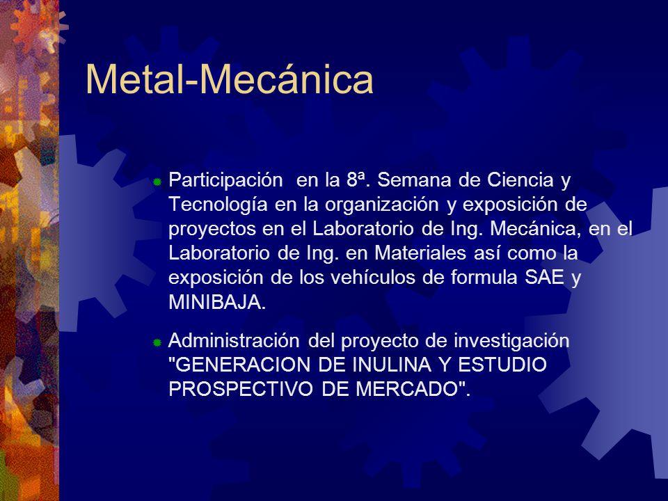 Metal-Mecánica Participación en la 8ª.
