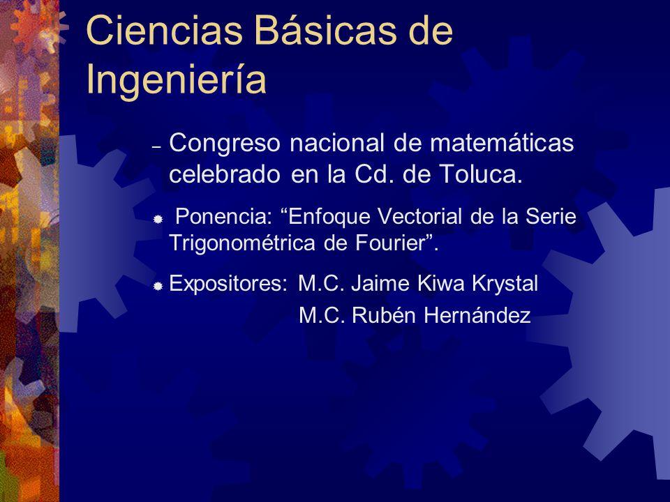 Ciencias Básicas de Ingeniería – Congreso nacional de matemáticas celebrado en la Cd.