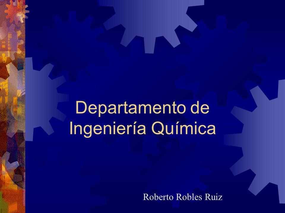 Departamento de Ingeniería Química Roberto Robles Ruiz