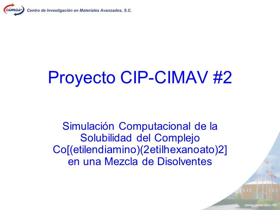Proyecto CIP-CIMAV #2 Simulación Computacional de la Solubilidad del Complejo Co[(etilendiamino)(2etilhexanoato)2] en una Mezcla de Disolventes