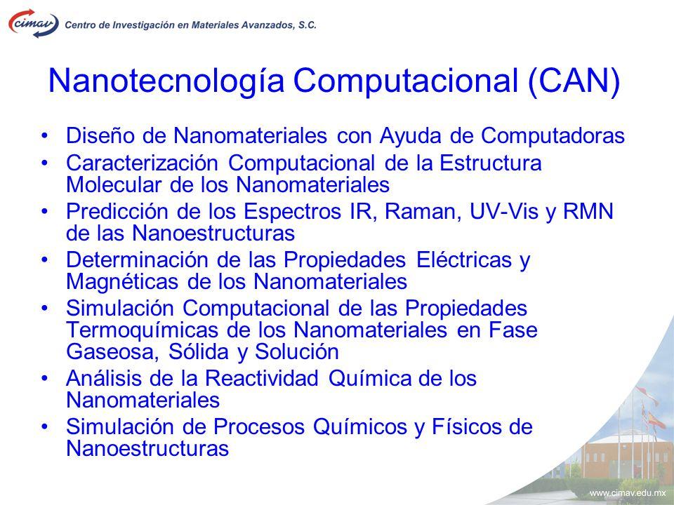 Nanotecnolog í a Computacional (CAN) Diseño de Nanomateriales con Ayuda de Computadoras Caracterización Computacional de la Estructura Molecular de lo