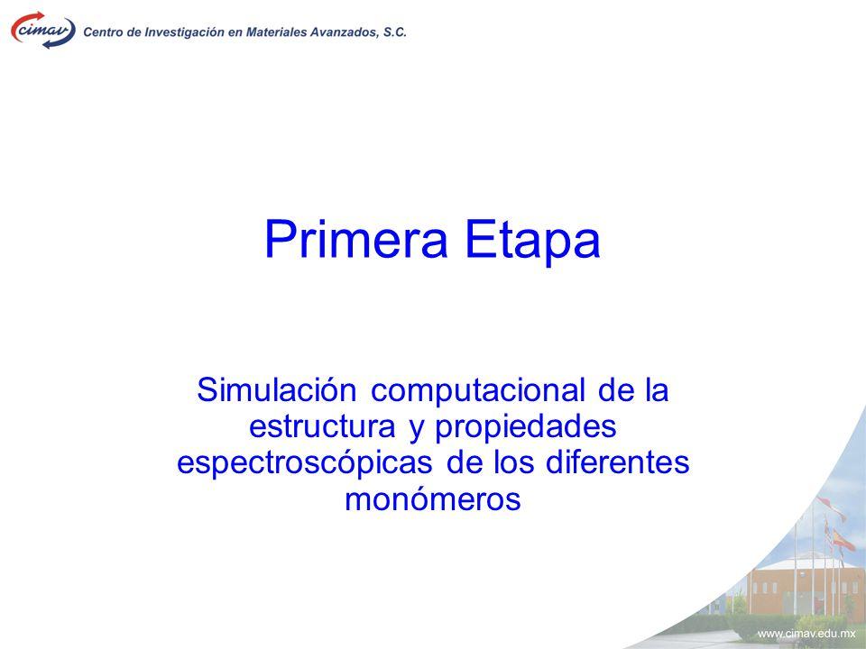 Primera Etapa Simulación computacional de la estructura y propiedades espectroscópicas de los diferentes monómeros
