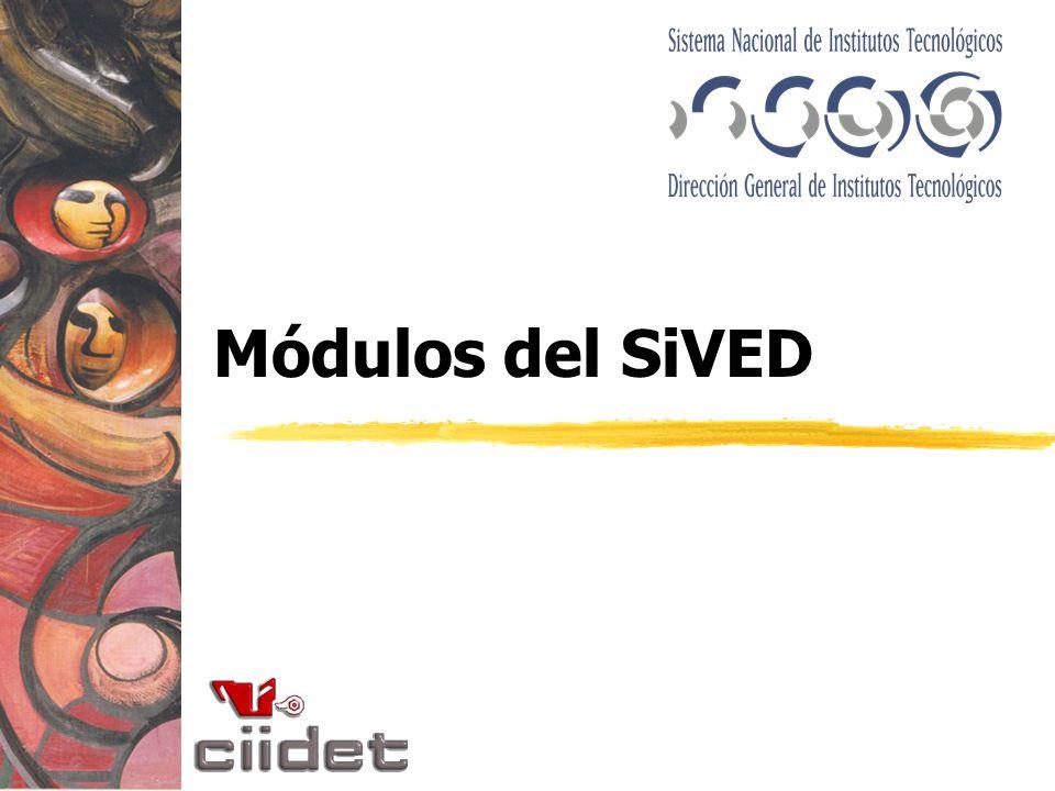 Módulos del SiVED