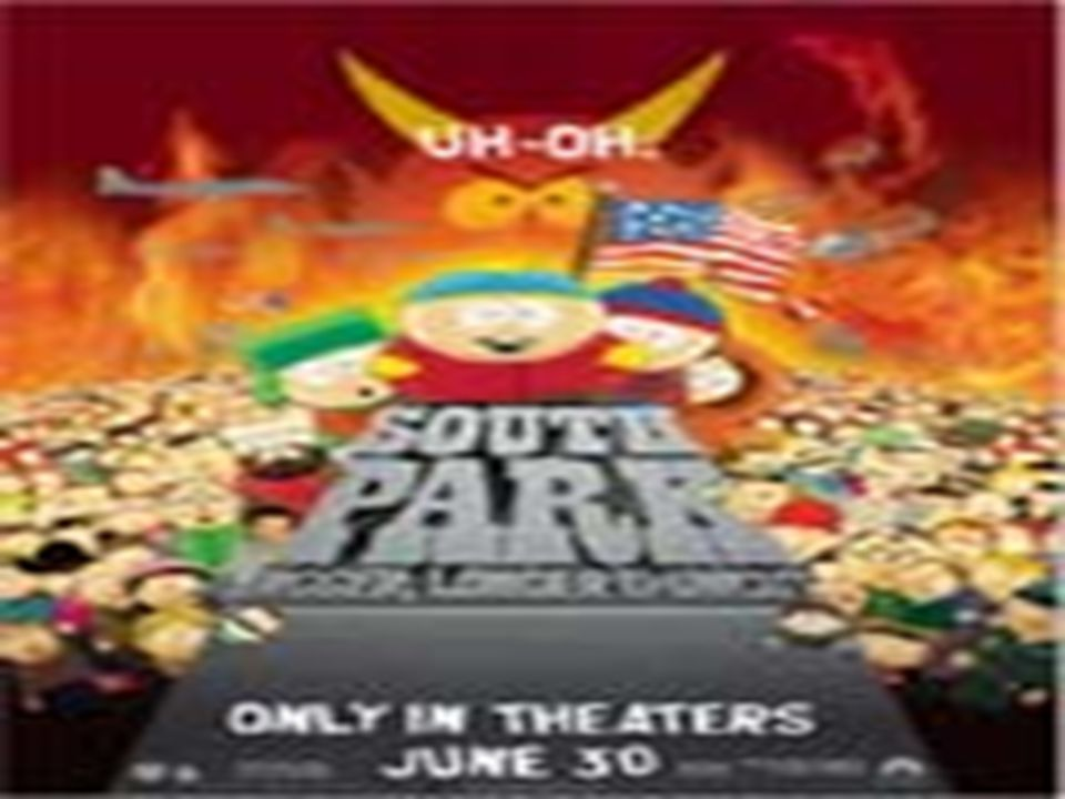 South Park South Park, que empezó siendo una serie de animación de gran éxito en EEUU, causó la división de la sociedad americana con críticas por un lado y grandes alabanzas por el otro.