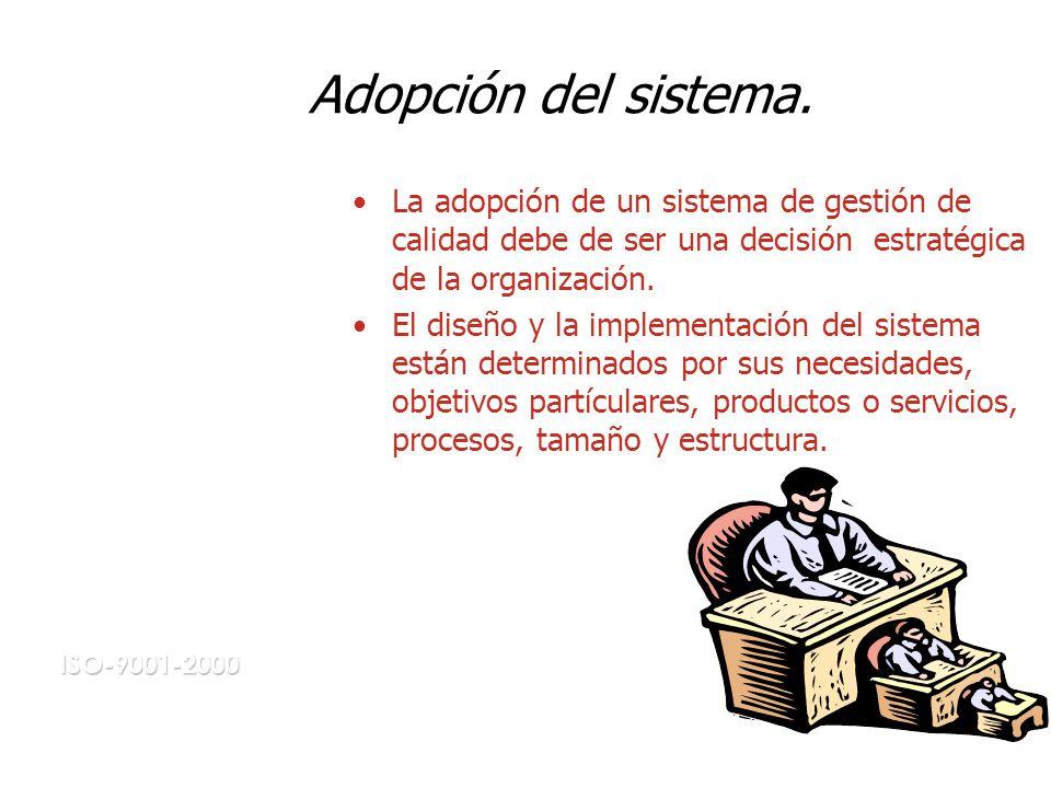 Adopción del sistema.