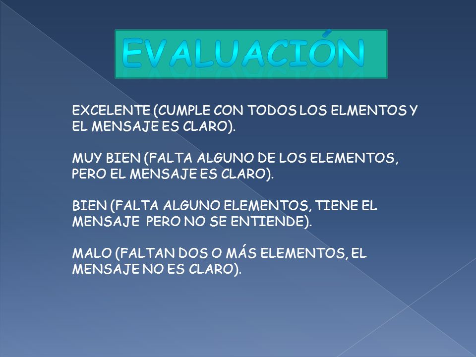 EXCELENTE (CUMPLE CON TODOS LOS ELMENTOS Y EL MENSAJE ES CLARO).