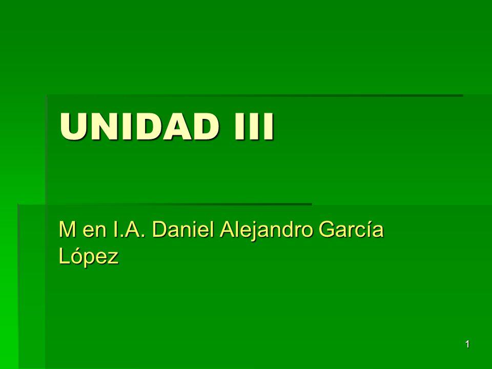 1 UNIDAD III M en I.A. Daniel Alejandro García López