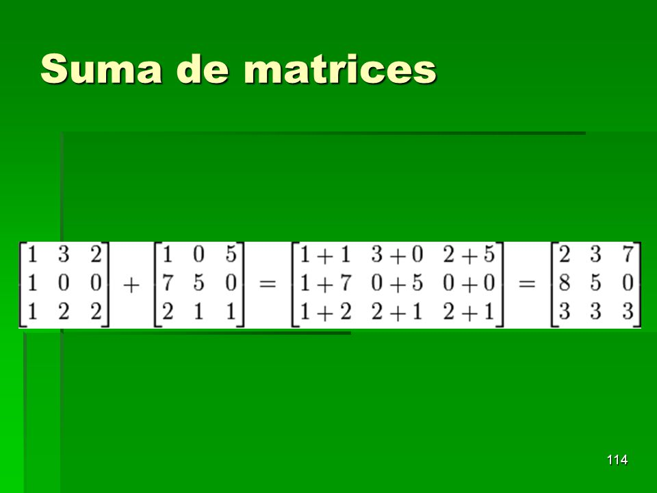 Suma de matrices 114