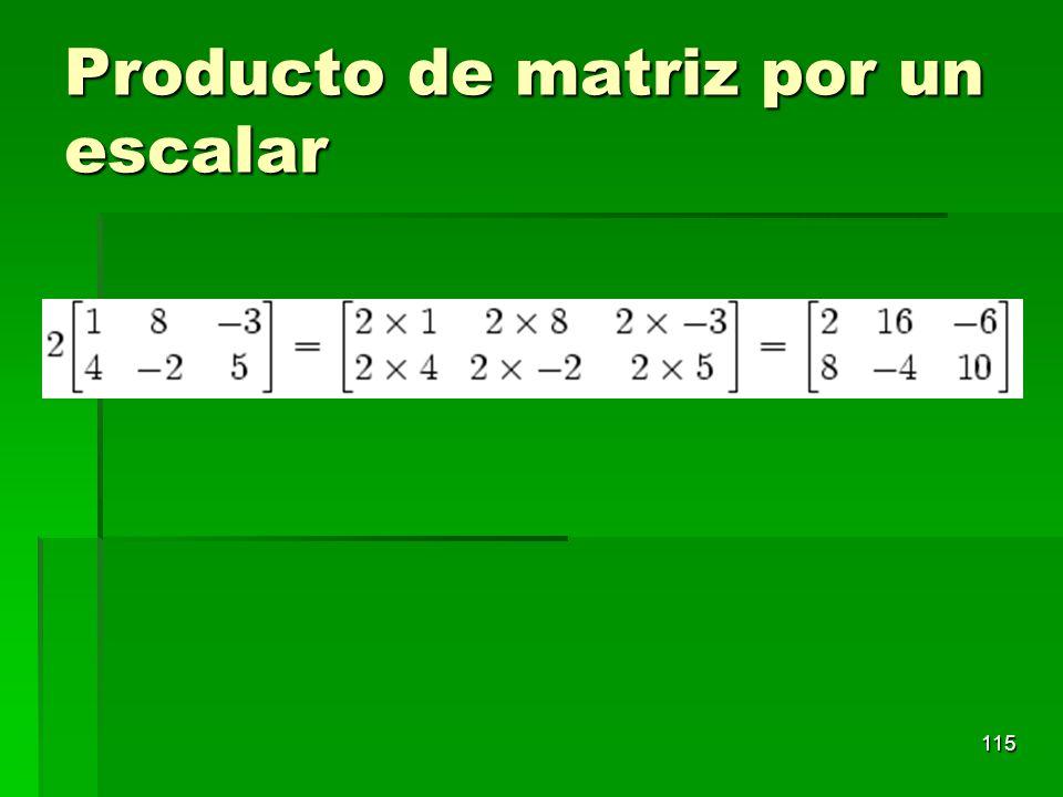 Producto de matriz por un escalar 115