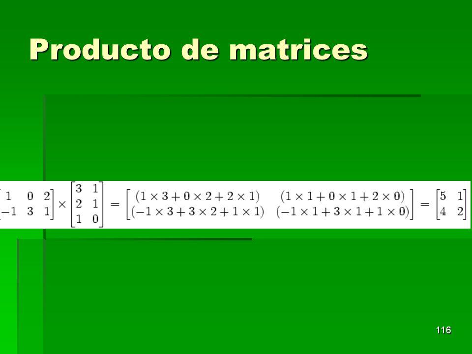 Producto de matrices 116