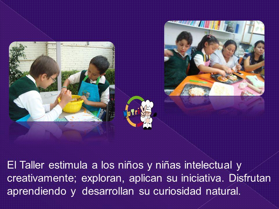 El Taller estimula a los niños y niñas intelectual y creativamente; exploran, aplican su iniciativa.