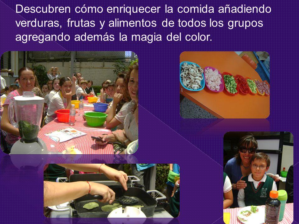 Descubren cómo enriquecer la comida añadiendo verduras, frutas y alimentos de todos los grupos agregando además la magia del color.