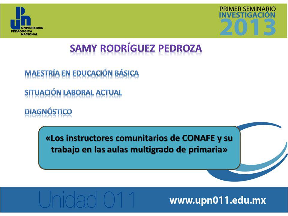 «Los instructores comunitarios de CONAFE y su trabajo en las aulas multigrado de primaria»