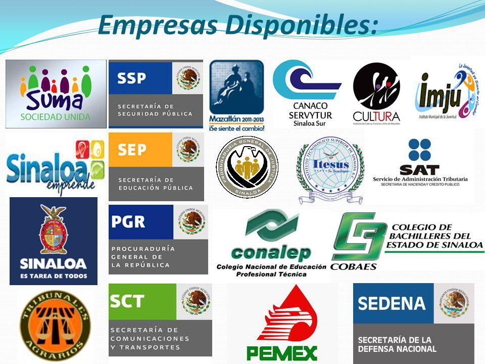 Empresas Disponibles: