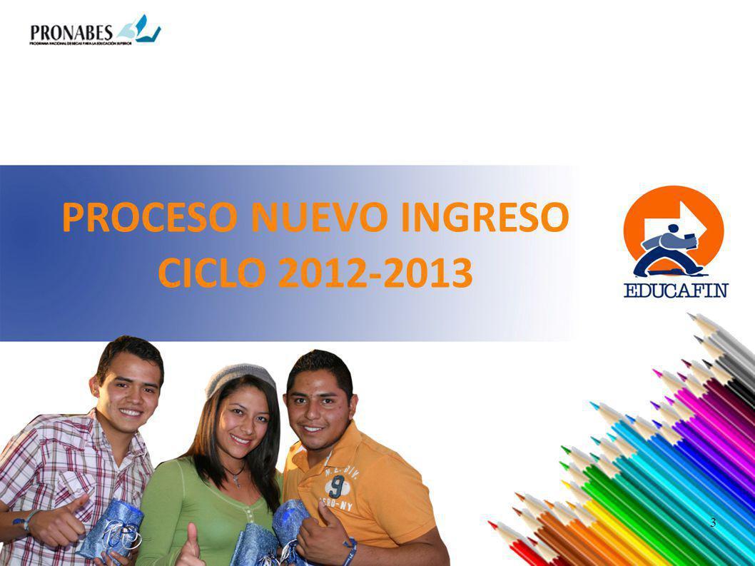 PROCESO NUEVO INGRESO CICLO 2012-2013 3