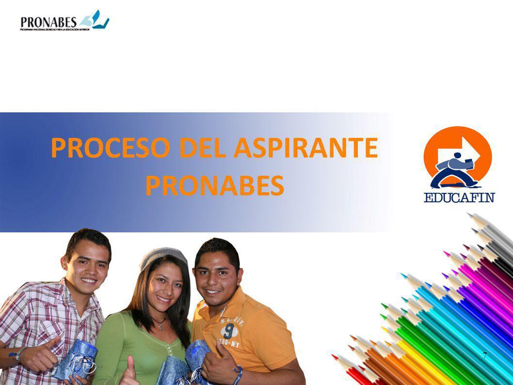 PROCESO DEL ASPIRANTE PRONABES 7