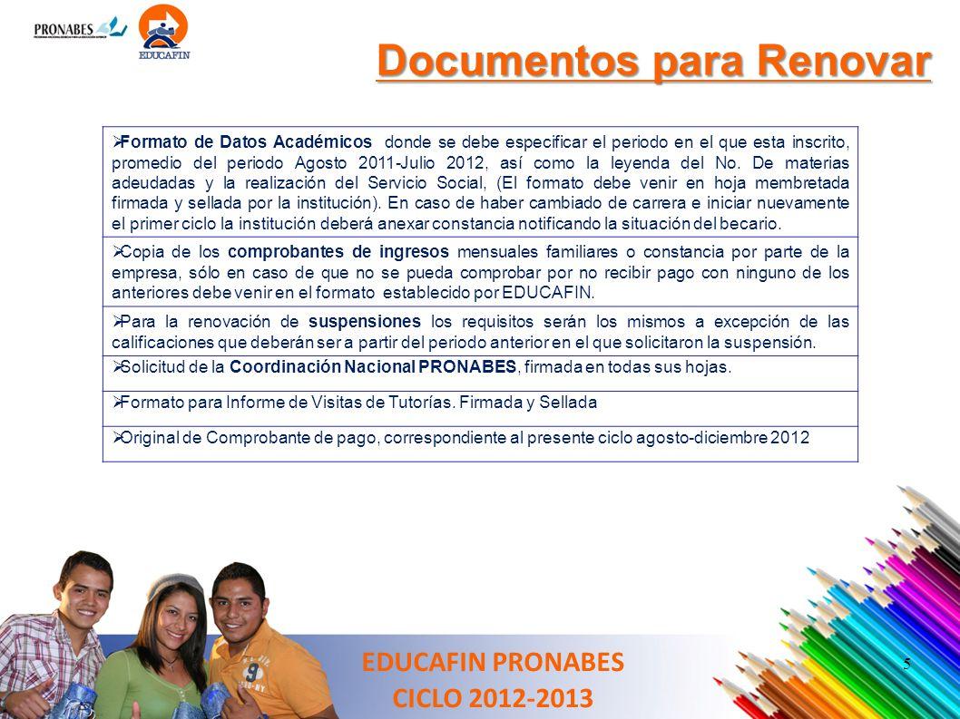 5 Formato de Datos Académicos donde se debe especificar el periodo en el que esta inscrito, promedio del periodo Agosto 2011-Julio 2012, así como la l