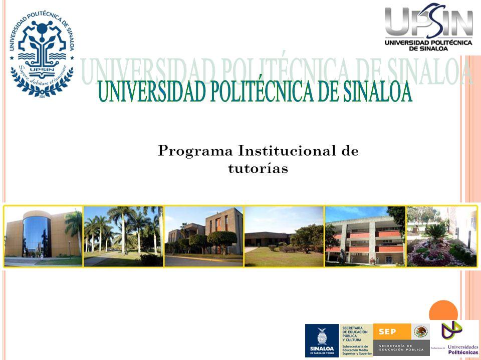 I M A G E N E SSSSSSSSSSSSSSSSSSSSSSS Programa Institucional de tutorías