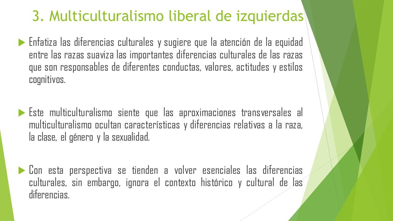 Enfatiza las diferencias culturales y sugiere que la atención de la equidad entre las razas suaviza las importantes diferencias culturales de las raza