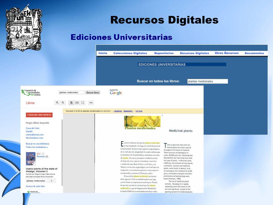 Recursos Digitales Ediciones Universitarias