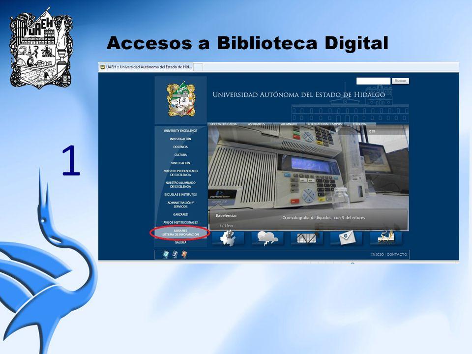 Accesos a Biblioteca Digital 1