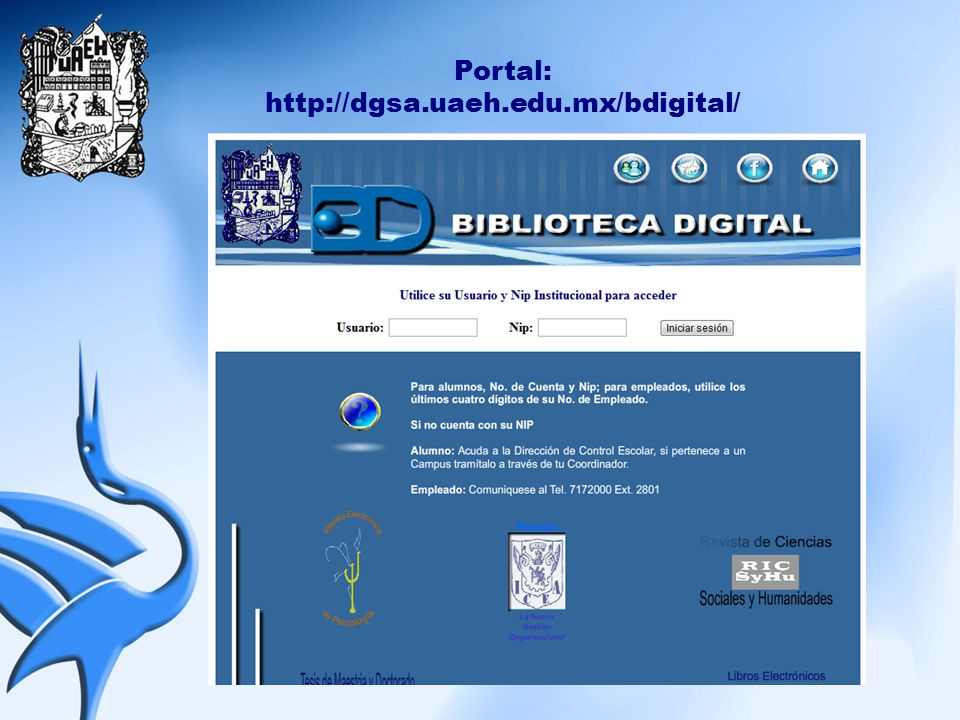 Servicios: - Colecciones Digitales - Repositorios - Recursos Digitales - Otros Recursos - Documentos