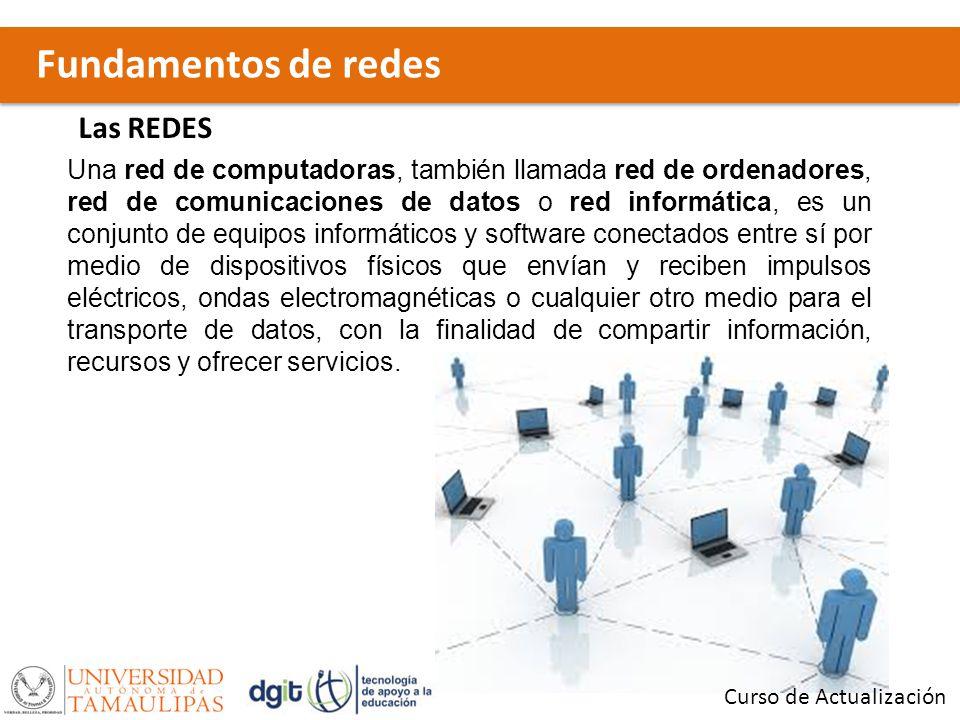 Fundamentos de redes Curso de Actualización Las REDES Una red de computadoras, también llamada red de ordenadores, red de comunicaciones de datos o re