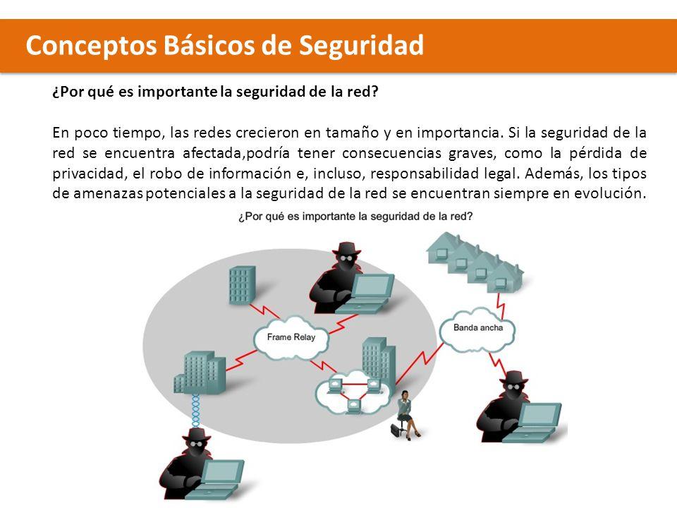 Conceptos Básicos de Seguridad Las amenazas utilizan una diversidad de herramientas, secuencias de comandos y programas, para lanzar ataques contra redes y dispositivos de red.