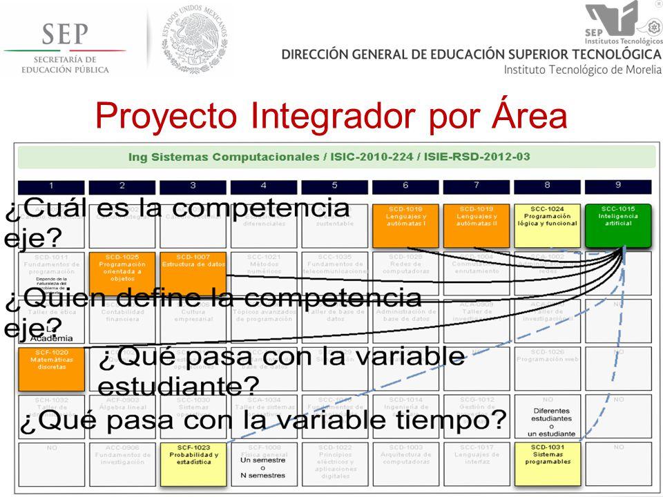 Proyecto Integrador por Área