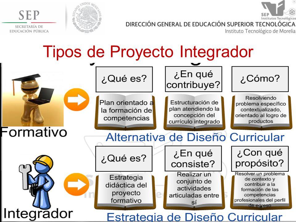 Tipos de Proyecto Integrador