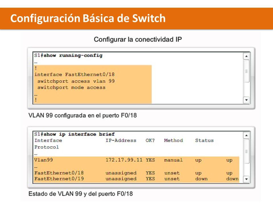 Configuración Básica de Switch x